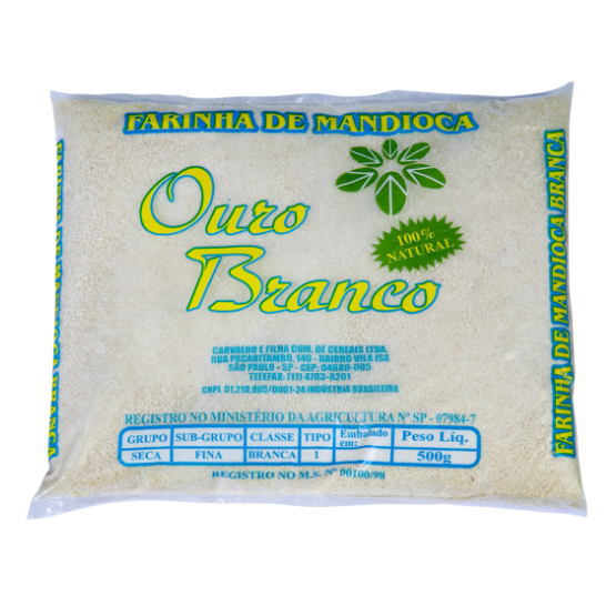 Detalhes do produto Farinha de Mandioca Fina Ouro Branco